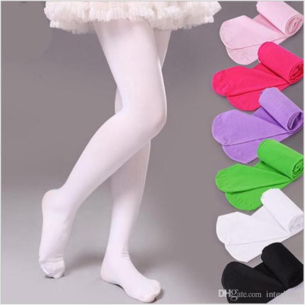 Babykleidung Mädchen Leggings Strumpfhosen Velour Ballett Strumpfhosen Kinder Skinny Pants Candy Farbe Hosen Tanzen Strumpfhosen Kinder Tanz Strümpfe LM2