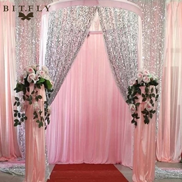 IY Apparel Sewing Fabric BITFLY US STOCK Sequin Fabric diy for Photography Backdrop Tablecloth overlay Christmas Wedding Decoration Clot...