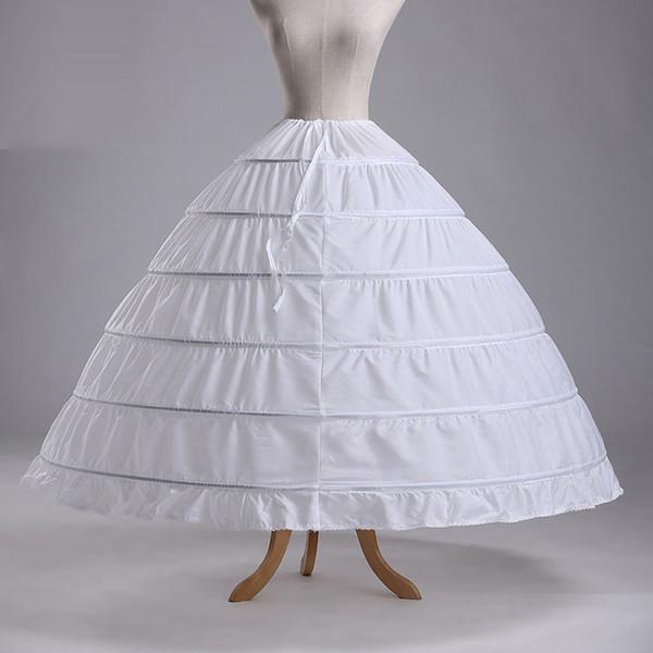 Real Simple Günstige Ballkleid 6 Hoops Petticoat Hochzeit Slip Crinoline Braut Unterrock Layes Slip Rock Krinoline Für Quinceanera Kleid