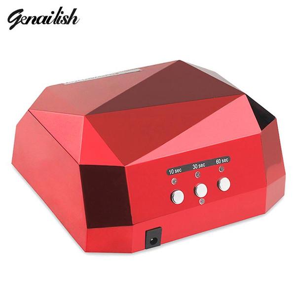 genailish 36W UV Lamp Nail Dryer UV LED Lamp for Nails Gel Dryer Nail Lamp Diamond Shape Curing for UV Gel Polish Nail Art Tools