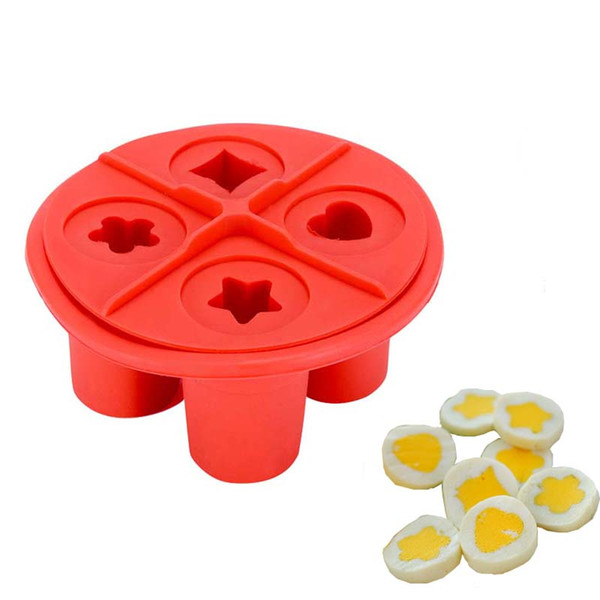 Non -Stick Silicone Egg Mold Star Heart Flower Shapes Lunch Mould Ice Cream Tubs Cooking Tools Kitchen Gadgets