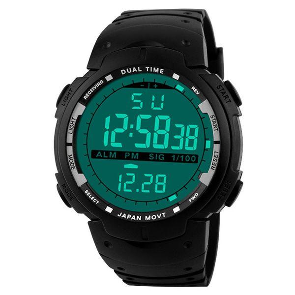 HONHX Watch Uomo Digital Watches Data Sport Rubber Alarm Impermeabile LED Orologio da bambino Orologio da uomo Orologio saat