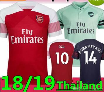 buy popular 30419 fcb5a 2019 2018 Arsenal Gunners OZIL AUBAMEYANG Soccer Jersey 18/19 ALEXIS  WILSHERE GIROUD LACAZETTE CHAMBERS XHAKA Home Football Shirt From  Messisp0rto1, ...