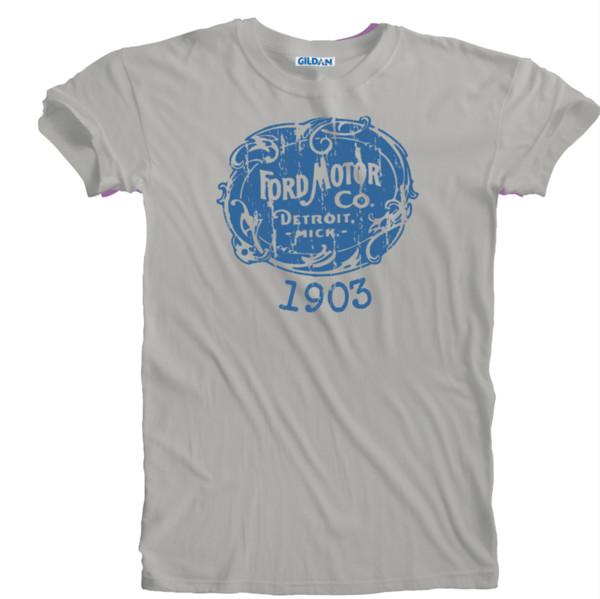 Jahrgang 1903 Retro Oldtimer Ford Distressed Print Logo T-shirt Größen S Lustige versandkostenfrei Unisex Casual
