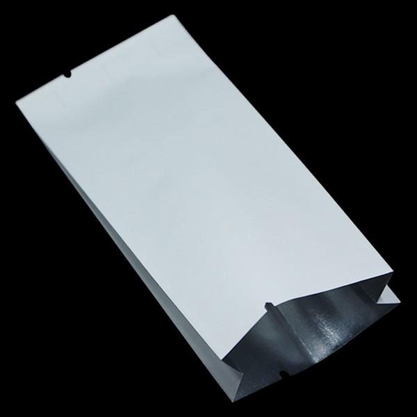 200Pcs White Kraft Paper Aluminum Foil Mylar Bag Open Top Side Gusset Vacuum Heat Seal Package Pouch Coffee Tea Snack Food