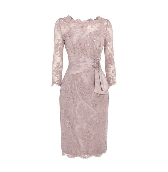 Hot Selling Long Sleeves Appliques Mother of the Bride Dresses Waist with Rhinestone Mother of the groom Dresses In Stock