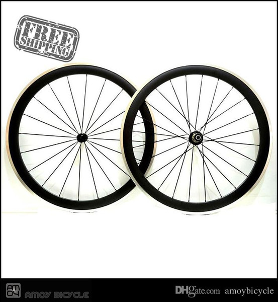 Free shipping Pro Superlight 700c 50mm Carbon Fiber Clincher Road Bike Bicycle Wheels, Bitex Hubs, Aluminum Alloy Brake Cycling