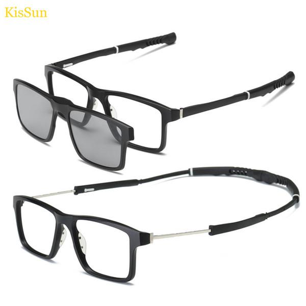 Sport Sunglasses Magnetic Clip on Sunglasses Men Polarized Glasses Driver Night Vision Glasses Frame with Black Gray Yellow Lens