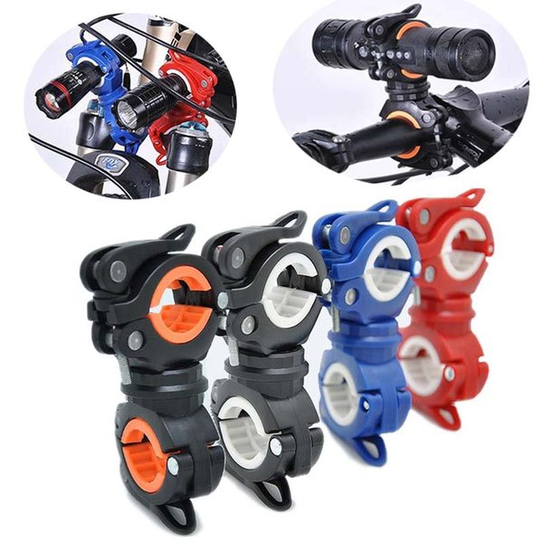 Multifunction Bike Bicycle  Holder 360 Degree Rotation Torch Mount LED Head Front Light Holder Clip for MTB Road Bike