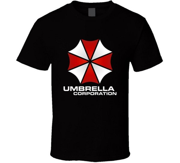 Humor Tees Short Sleeve Men Printed Resident Evil Umbrella Corporation O-Neck Tee