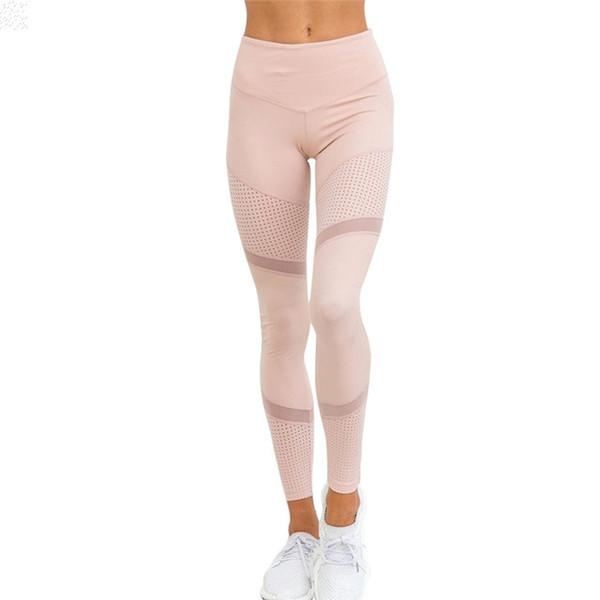 New Mesh Pattern Print Leggings Fitness Leggings for Women Sporting Workout Leggings Elastic Trousers Slim Pants