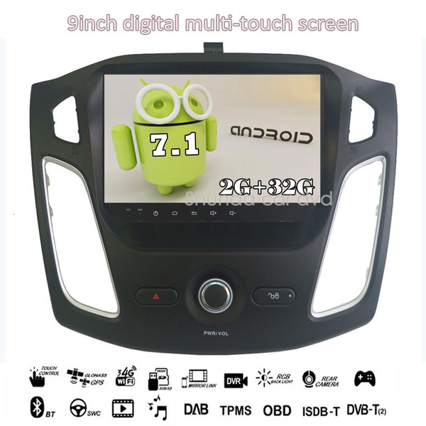 SHUNDA HD 10.1inch Android 7.1 T3 for Ford Focus 2012-2016 car dvd player with GPS 3G 4G WIFI BT Navi Stereo Radio SWC RDS map