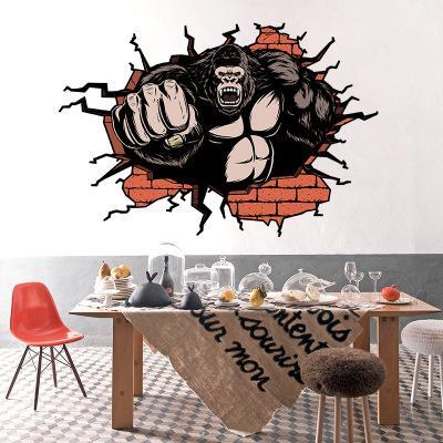 Bulk Lots Strong Orangutan Wall Sticker Wallpaper Wall Picture Art Vintage Room Home Decor Kitchen Accessories Household Craft Suppllies
