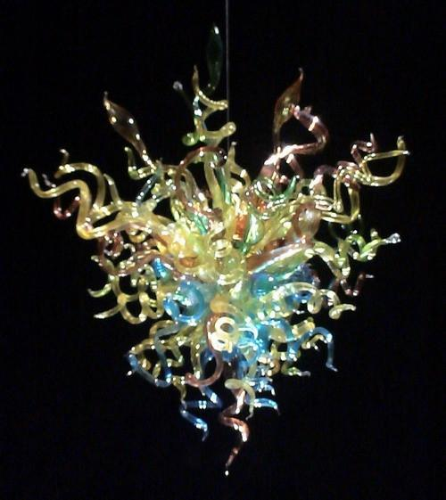Small Wonders of the Sea Chandelier Hand Blown Glass LED Pendant Lamps Crystal Chandelier for Home Decoration
