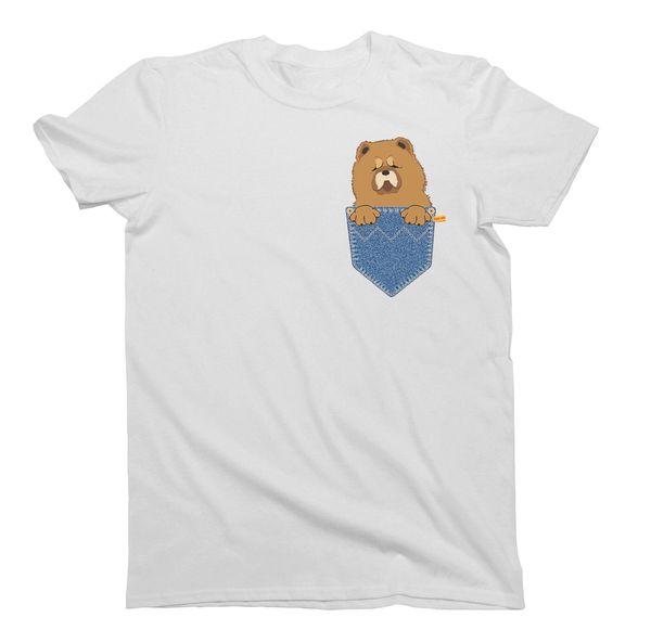 Chow Chow Pocket Dog Birthday Gift T Shirt Mens Ladies Unisex Fit