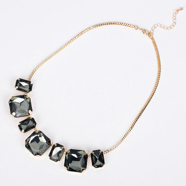 1170 necklace female short design necklace gem fashion vintage crystal fashion N022
