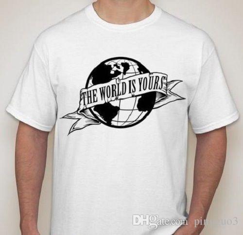 Le monde est à vous Scarface T-shirt tee shirt petit-2XL disponible choisir la couleur Homme Pré-Coton Vêtements 100% Coton Blanc Style