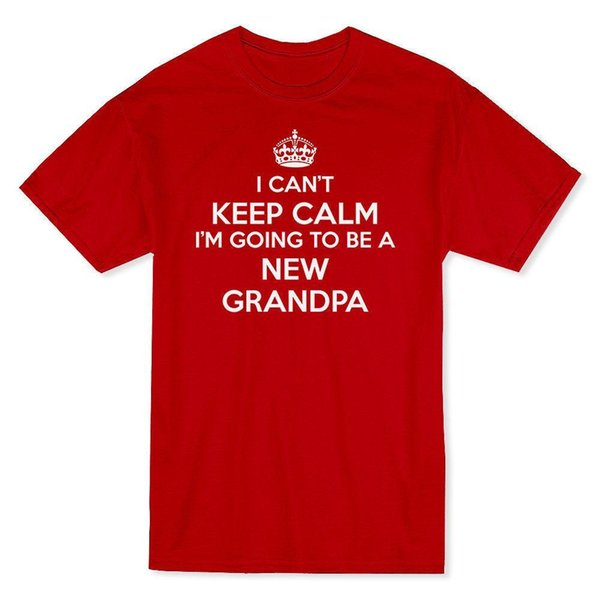 """""""I Can't Keep Calm I'm Going 2 Be A New Grandpa"""" Crown Image Men's T-shirt"""
