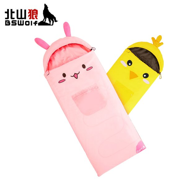 BSWolf 2018 New Arrive Sleeping Bag For Kids Outdoor Camping Sleeping Bag Baby Anti Kick Quilt Child Cartoon Sack
