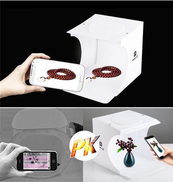 Mini Foto Studio Box Fotografie Hintergrund eingebaute Licht Foto Box Kleine Gegenstände Fotografie Box Studio Zubehör DHL frei
