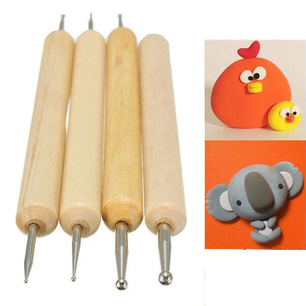 Hot Sale Pack of 4pcs Ball Stylus Polymer Clay Pottery Ceramics Sculpting Modeling Handmade Tools Set Paiting tools