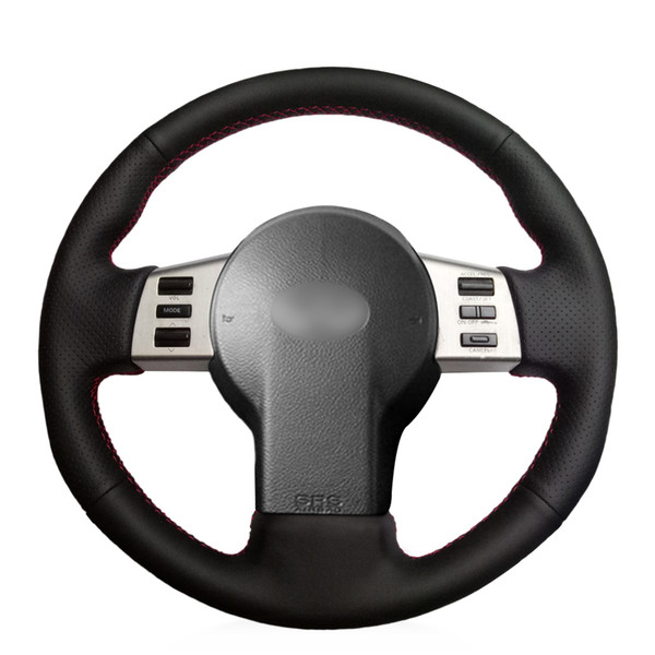 MEWANT DIY Black Artificial Leather Car Steering Wheel Cover for Infiniti FX FX35 FX45 2003-2008 Nissan 350Z 2003-2009