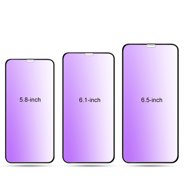 For iPhone XR Anti-Blue Tempered Glass Full Cover Screen Protector Film For Iphone XS XS Max
