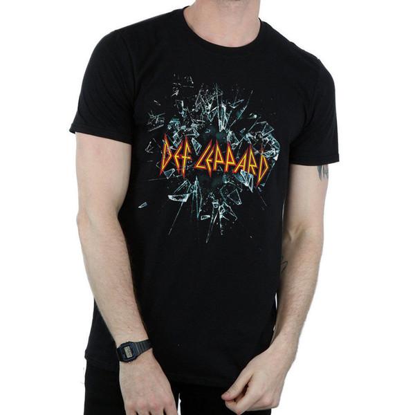 Def Leppard - Glass Shatter T Shirt Size:3XL - NEW & OFFICIAL new 2018 Summer Fashion T Shirt Short Sleeve print