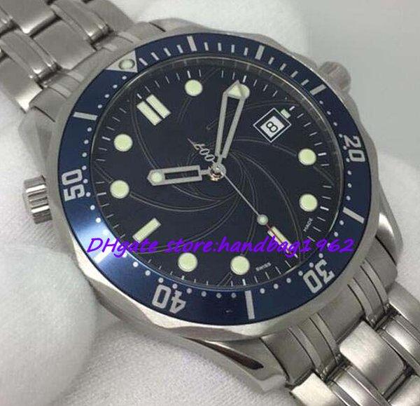 Luxus Herrenuhr Casino Automatic Sapphire Blue Dial Stahl Handgelenk Planet Ocean Herrenuhren