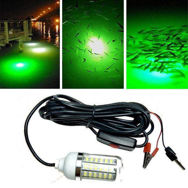 ZANLURE 12V 15W / 21W Deep Drop Subacqueo 48/108 LED Light Fishing Outdoor Giallo / Blu Fish Finder Lamp