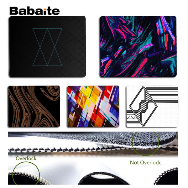 Babaite My Favorite Abstract design art Silicone Pad to Mouse Game Size for 18x22cm 25x29cm Rubber Mousemats