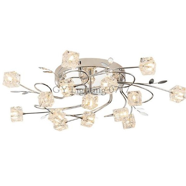 Modern LED lustre remote control Chandeliers lamp crystal lampshade LED ceiling mounted lights luminaire moderne lighting luz