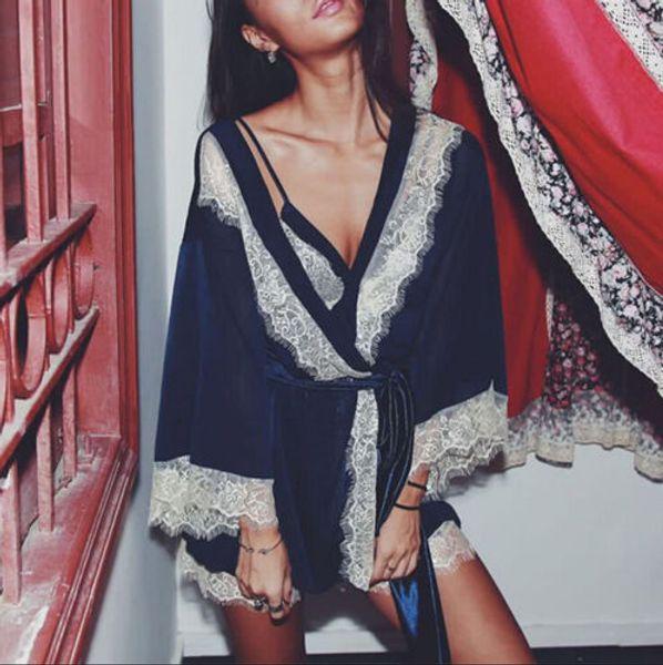 Summer 3PCS Women Lace Night Dress Silk Satin Pajama Sleepwear Robes Nightwear Gown Sets Female Clothing