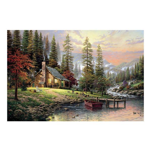 Thomas Kinkade paisaje pintura al óleo impresiones sobre lienzo imagen de arte de pared para sala de estar decoraciones para el hogar sin marco HD-12130