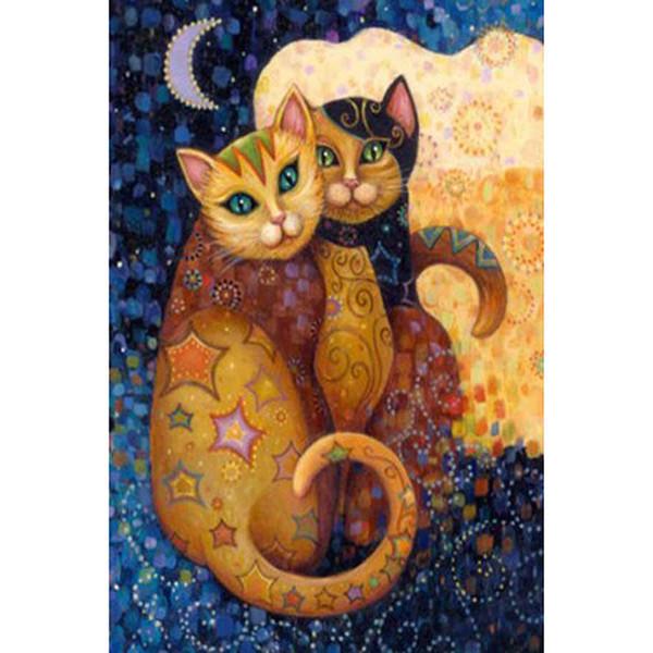 hot sale diamond painting cats 5d diy Cross Stitch diamond Embroidery Full Square Diamond Mosaic art wall decoration drop shipping