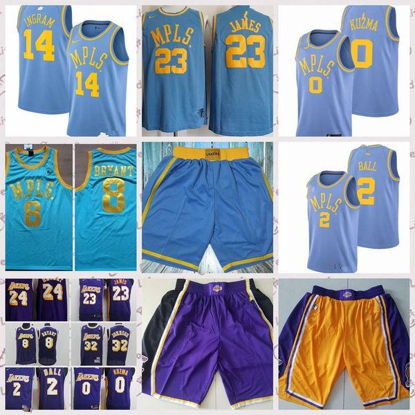 outlet store ca5d6 ee001 2018 23 Lebron James Lebron Lakers Jersey 24 Kobe Bryant Los Angeles Lakers  0 Kyle Kuzma 2 Lonzo Ball 14 Brandon Ingram Basketball Jersey From ...