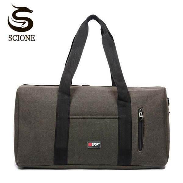 Große Kapazität Reisetasche Mens Canvas Umhängetasche männlich / weiblich Business-Taschen Travel Duffle Tote Crossbody Messenger Bags Handtasche