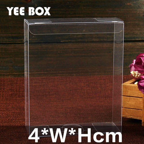 50pcs/lot 4*W*Hcm Spot PVC clear plastic box/ Box used to display notebook, wedding gift, cakes, stationery, cosmetics etc.