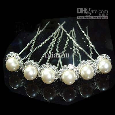 Fashion Jewellery 400pcS WEDDING BRIDAL SWAROVSKI CTYSTAL PEARL HAIR PINS.