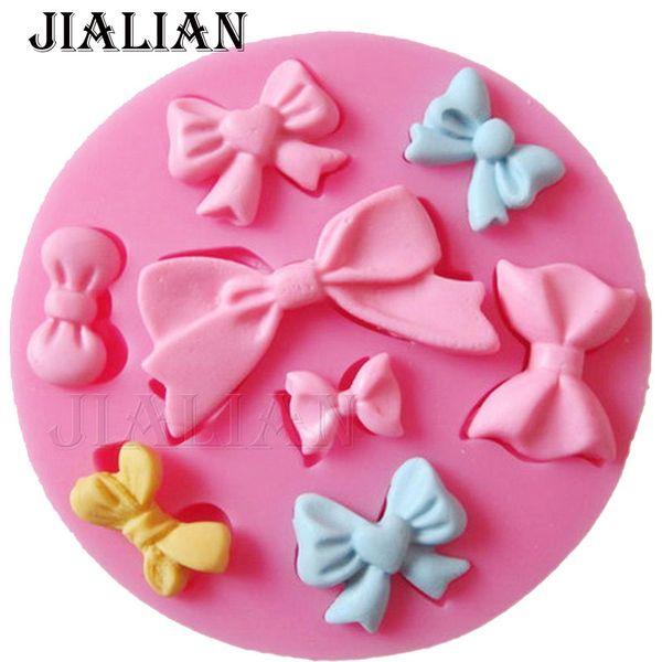 Many Mini bow chocolate wedding cake decorating tools DIY baking fondant silicone mold High quality T0218