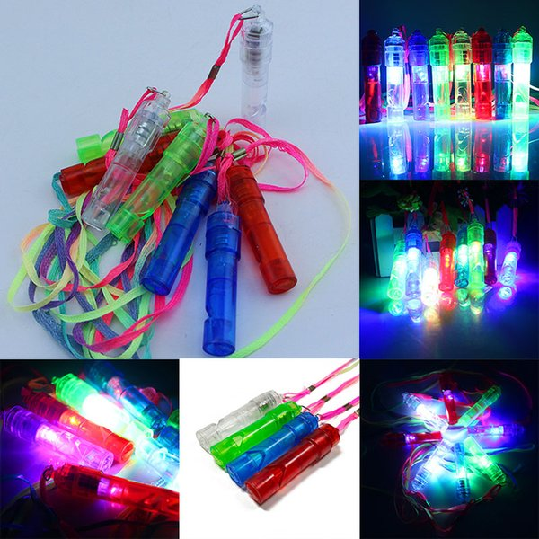 Colorful Luminous Led Flashing Whistle Kids Children Toys Birthday Party Festival Novelty Props Christmas Party Supplies WX9-789