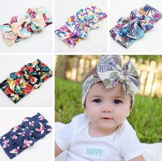 baby flower wide headbands childrens christmas hair accessories girls big bows hair bands kids boutique hair bows cotton elastic headwrap