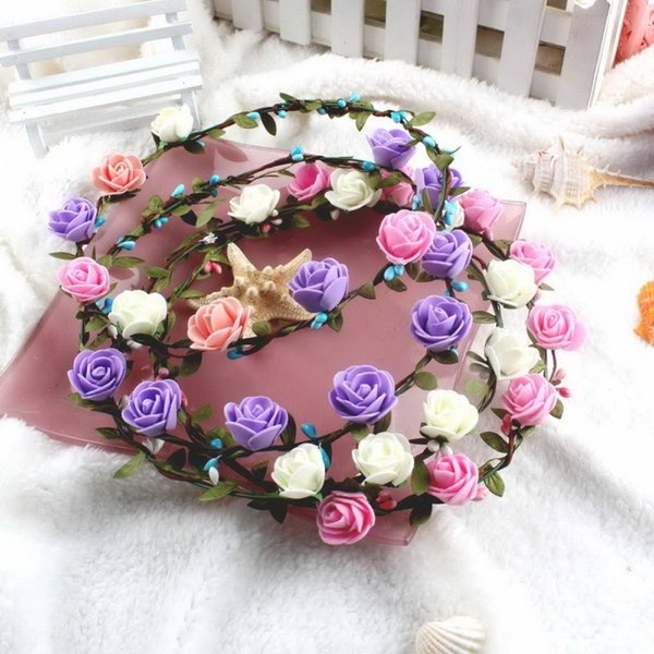 Wedding Decoration Flower Hair Accessories for Women Flower Garlands for Wedding Head Wreath Flower Decorative Flowers Wreaths