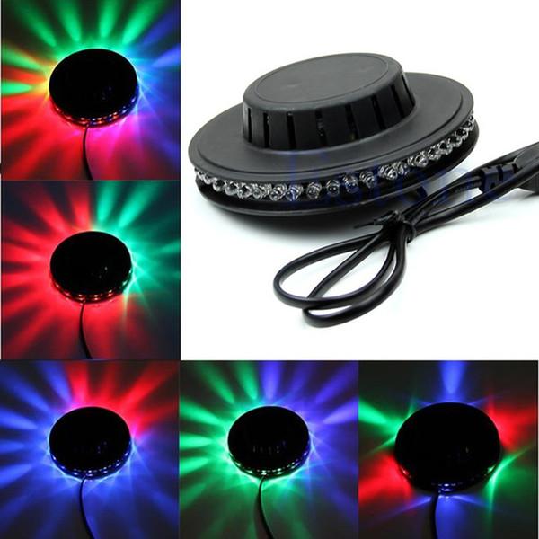 Sahne Işıkları 8 W 48 LEDs Ayçiçeği RGB LED Sahne Işık Duvara Monte Dönen Lamba AC 90-240 V Asılı Duvar Lambası Koridor Ortam Işıkları Bar