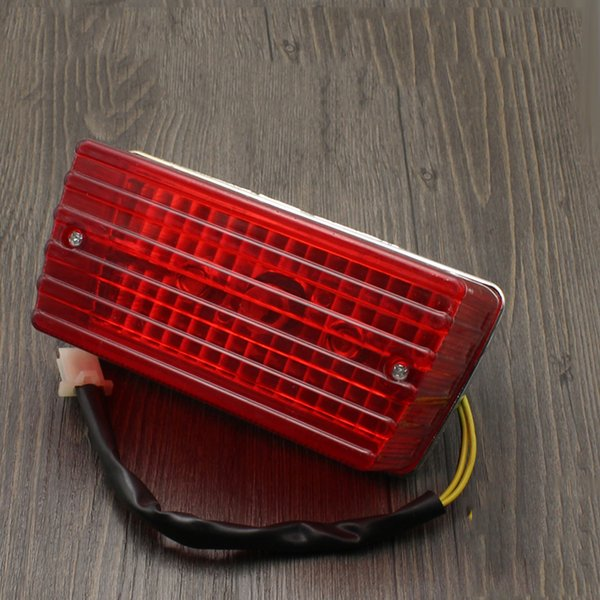 Motorcycle Parts GS125 Brake Lights Rear Taillight Assembly, Light Bulbs, High-quality Materials