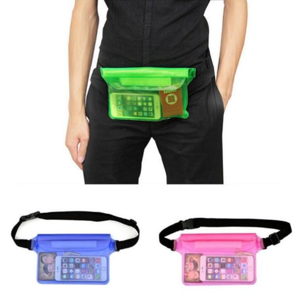 New Fashion women men triple sealed Waterproof Bag Phone Outer Jacket Waist pockets swimming drifting PVC Bags