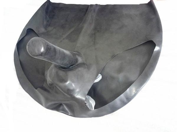 pantaloni in lattice biancheria intima maschile partito usura con cinghia del pene sulla manica tasca della sfera di schiavitù costumi fetish per gli uomini neri ZYF9553