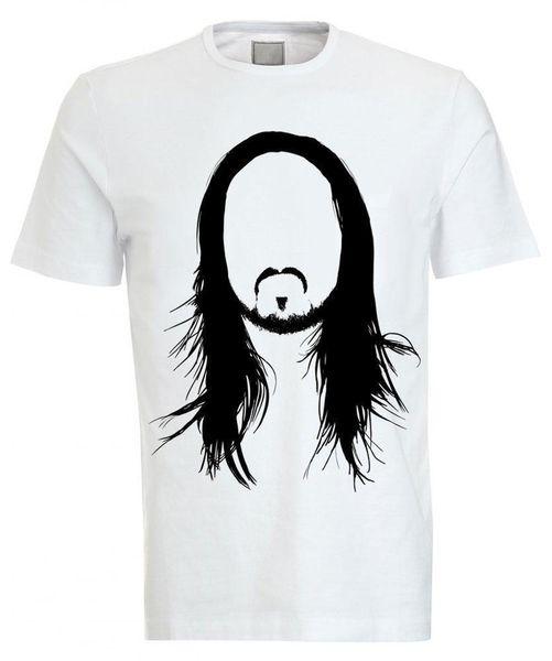 Steve Aoki Cartoon Stencil Crew Neck Tee T-shirt Hip Hop men tshirt rock Unisex t shirt Fashion Tops Cool Summer Tees