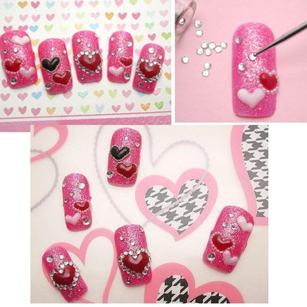 2000pcs 1.5mm 3D Nail Art Decorations Acrylic Diamond Shapes Rhinestones Nails Accessories In Wheel Manicure Nail Art Studs