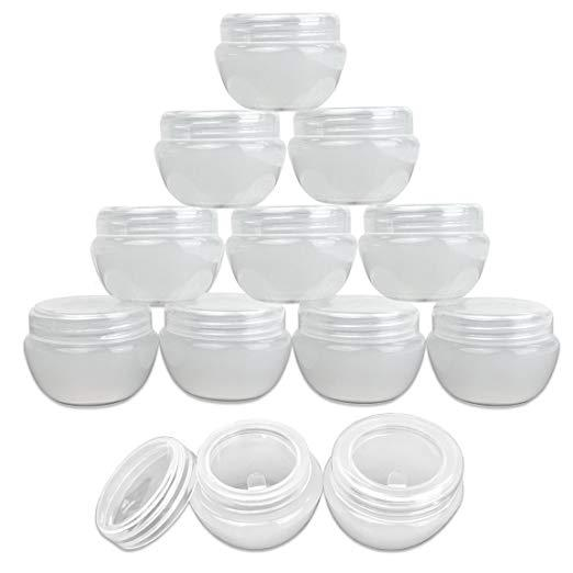 30G/30ML Cosmetic Containers Pot Jar Lid Empty Plastic Travel Bottles Screw Cap for Samples Round Leakproof for Toiletry Makeup,Cream,Liquid